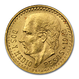 Gold 2 1/2 Pesos  (1948 & Prior)